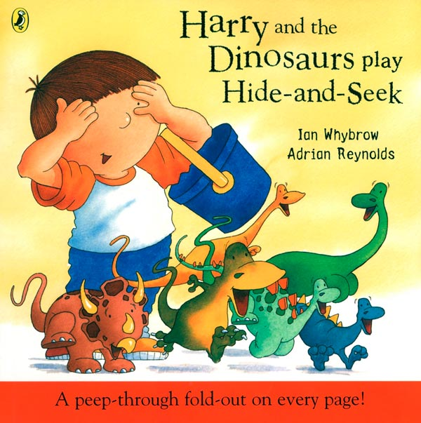 Harry and the Dinosaurs play Hide and Seek book.
