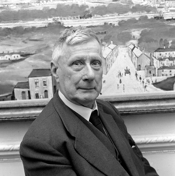 Photograph of the artist LS Lowry.