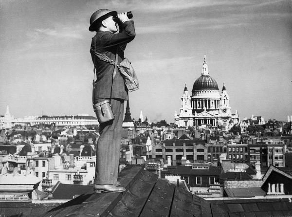 A Battle of Britain lookout in London.