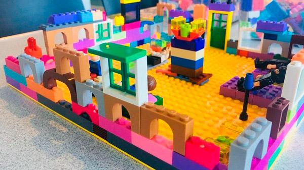 A Lego Building.