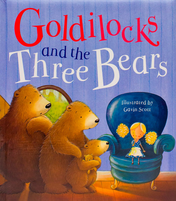Goldilocks and the three Bears book cover.