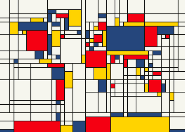 A painting by Mondrian.