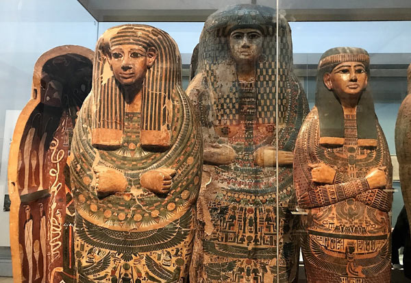Ancient Egyptian artifacts at the British Museum.