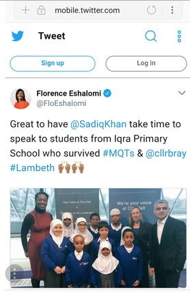 Florence Eshalomi tweet