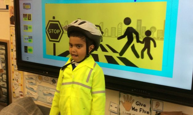 Children Learning About Road Safety