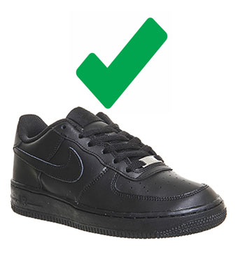Black Trainers - Acceptable